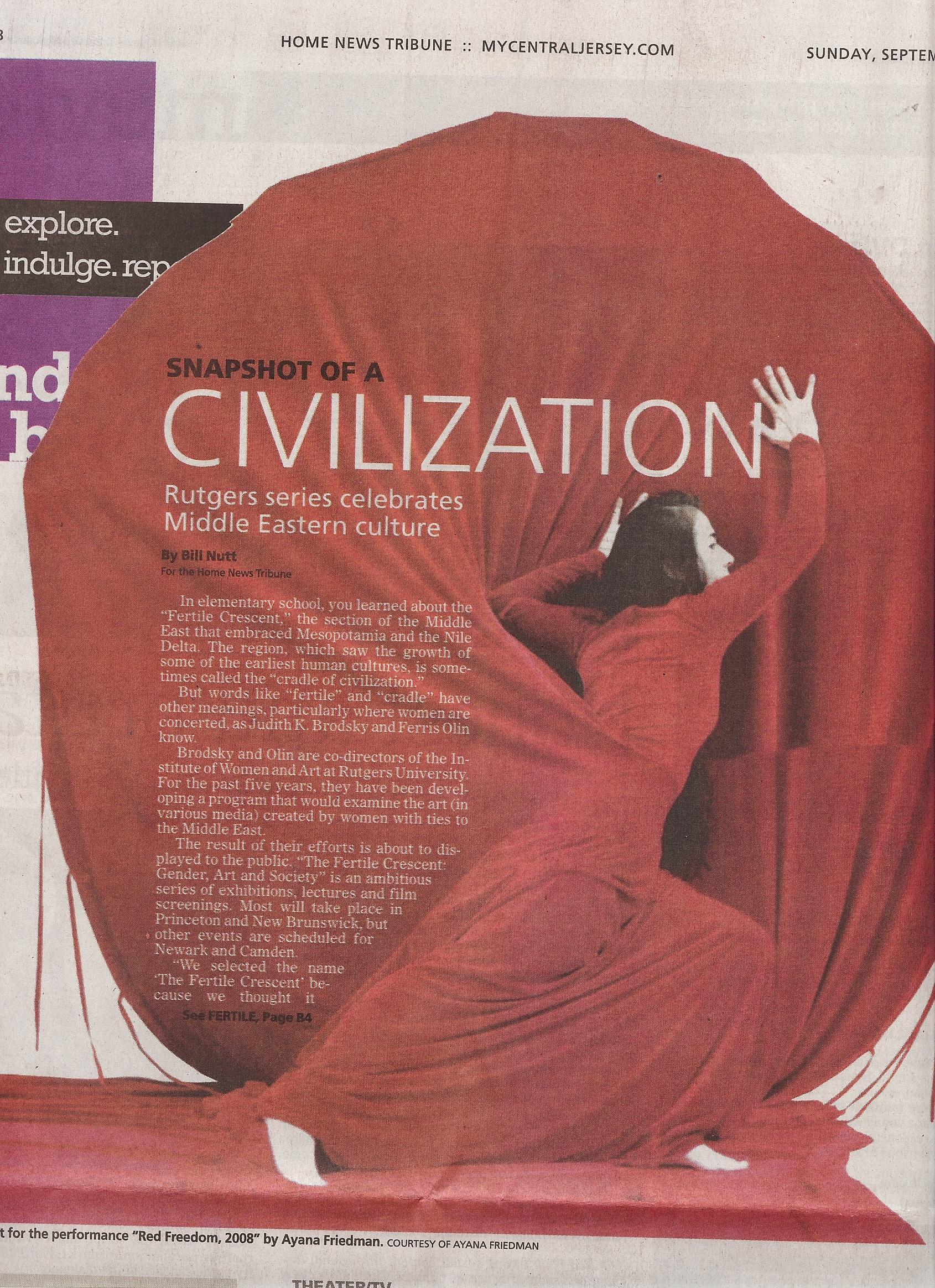 Snapshot of civilization